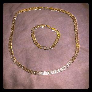 San Tropez Gold Chain & Bracelet